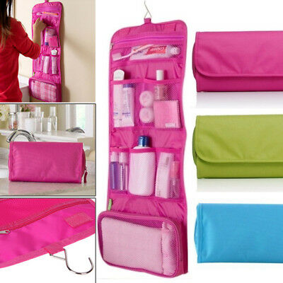 Travel Toiletry Foldable Hanging Bag Cosmetic Makeup Storage Case Portable NEW