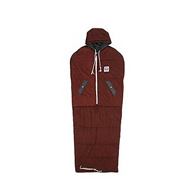 VINSONMASSIF Wearable Sleeping Bag for Camping Hiking Outdoors #Burgundy