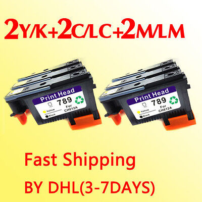 6x Fastshipping compatible for hp789 Print Heads DesignJet L25500 CH612A-CH614A
