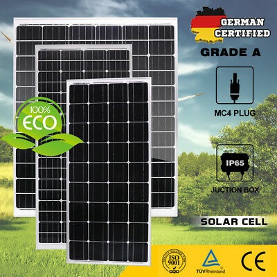 12V 250W 300W 325W Solar Panel Kit Mono Solar Cell Boat Camping Battery Charging