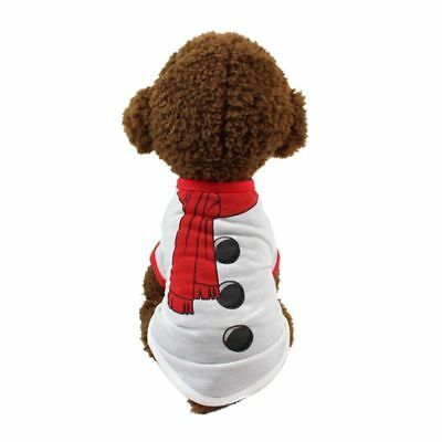 Pets Shirt Christmas Snowman Costume Dog Puppy Cat Cosplay Coat Clothes Products
