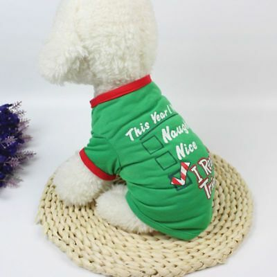 Christmas Pets Shirt Jacket Short Breathable Dog Puppy Clothes Costume Festival