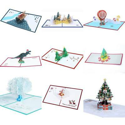3D Christmas Tree Pop Up Handmade Xmas Greeting Card Gift SOMETHING FOR EVERYONE