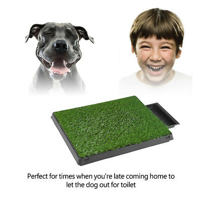 Pet Potty Trainer Grass Mat Dog Puppy Training Toilet Pee Patch Pad In/Out Door