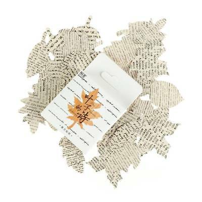 45PCS/box Leaf Poem Diary Paper Lables Stickers DIY Scrapbookings Crafts Lifelog