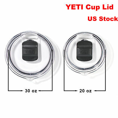 Splash Spill Proof Magnetic Slider Lid for 20/30 oz YETI Rambler Tumbler Cup