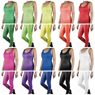 NEW !!! Neon Legging Singlet Set Summer Daily 1980s Party Costume Yoga Sports