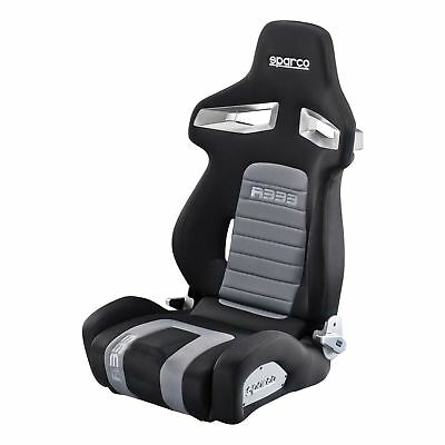 New! Sparco R333 Forza Deep Bolster Reclining Bucket Sports Seat in Black/Grey