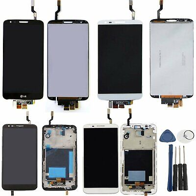LCD Display Touch Screen Digitizer Frame + Tools Replacement for LG G2 D800 D802