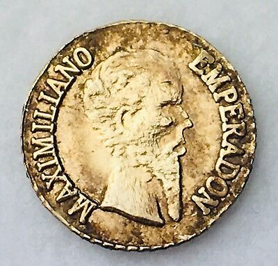 1949 Emperadon Maximiliano Gold Coin Mexican 034