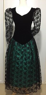 Vintage 80s PROM dress COCKTAIL party HENS bridesmaid tragic FORMAL theatrical