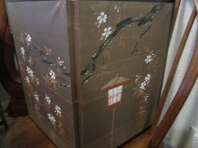 Japanese 2-Panel Screen Painted Two Sides