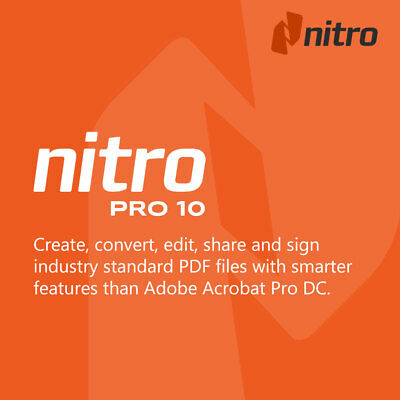 Nitro Pro 10 PDF 64-Bit Creator Editor Converter Program + Key Instant Download