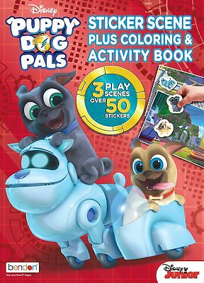 Puppy Dog Pals Sticker Scene Plus Coloring and Activity Book,Kids,drawing,comics
