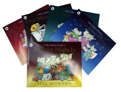 The Large Family  Elephant 5 books Collection Pack Jill Murphy Pbk Kids  New