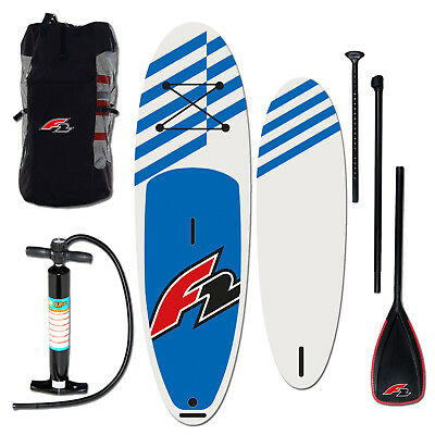 """F2 Stand Up Paddle Board Sup 10,0"""" Blue Komplett Set Inflatable Testboard"""