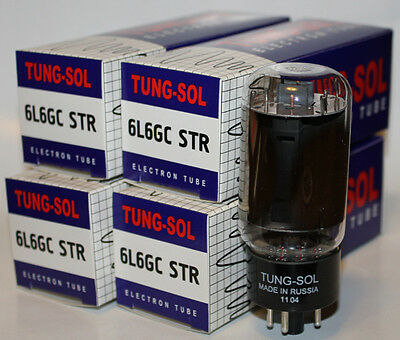 (4) Matched Tung Sol 6L6GC STR Reissue amp tubes, Brand NEW in Box