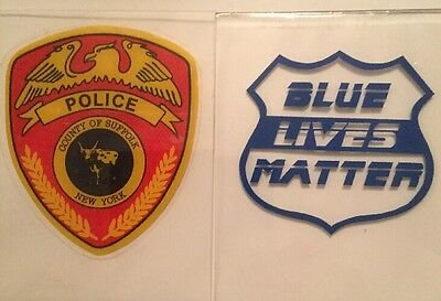 Suffolk County Police InWindshield *Authentic Decal + Blue Lives Matter Sticker