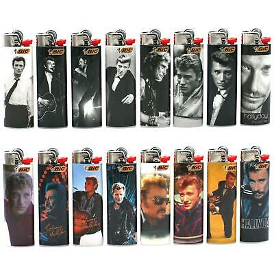 Lot de 16 Briquets Bic Maxi Collector – Johnny Hallyday