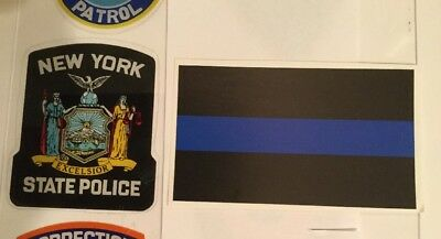 NYS Nassau /& Suffolk County Police InW//shield *Auth Decals+2 Bl line Stickers *O