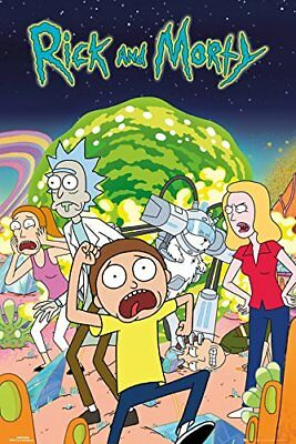 Rick and Morty Group Sanchez Maxi Poster Print 61x91.5cm | 24x36 inches