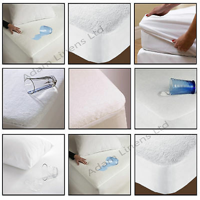 Mattress Waterproof Terry Towel Protector New All Sizes Fitted Sheet Bed Cover