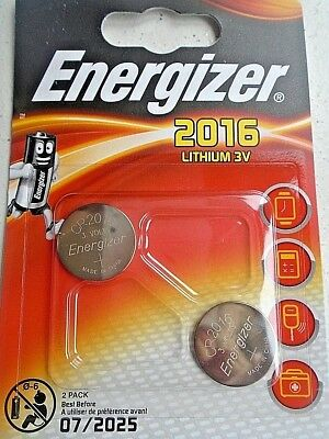 Pile Energizer LITHIUM 3V CR2016 montre Clef calculatrice  lot 2pcs