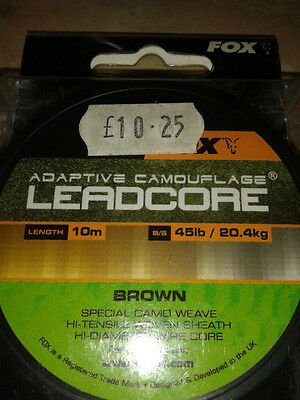 Fox Adaptive Camouflage Leadcore 10M 45Lbs Brown