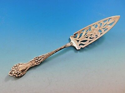 """Majestic by Alvin Sterling Silver Jelly Cake Server 8 1/2"""" Orchid on Blade"""