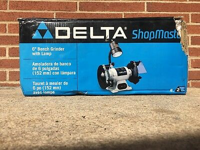 Delta Gr150 6 Inch Bench Grinder With Lamp New Open Box 79 95