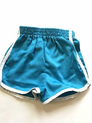 Vintage Turquoise Blue HealthTex Track Shorts 80s 4 /5T