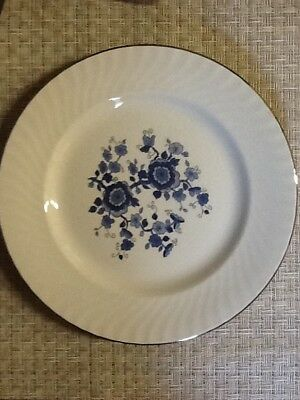 "Gorgeous Vintage Wedgwood Royal Blue Ironstone 10"" Dinner Plates, Set of Two"