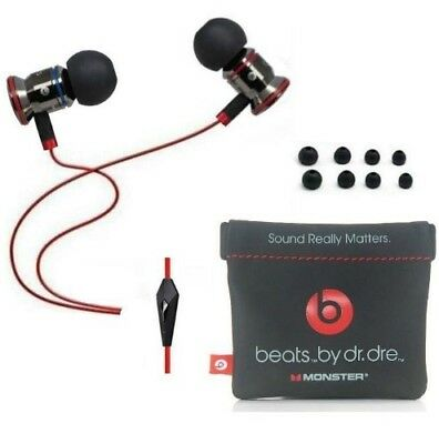 Genuine Monster Beats Earphones By Dr Dre Urbeats Black in Red With mic.