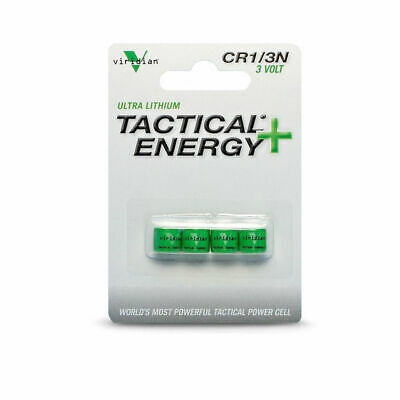 Viridian CR1/3N 3V Lithium Battery Tactical Energy - 4-Pack