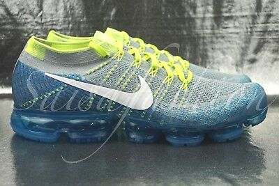 520f6e8feb Nike Air VaporMax Flyknit Sprite Mens 849558-022 Grey Blue Running Shoes  Size 13