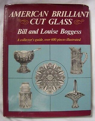American Brilliant Cut Glass, Collector's Guide, 600 Pieces, 1977, Vintage Glass
