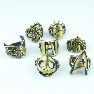 Anime Movie Finger Ring Metal Hollow Retro Jewelry Cosplay Rings Accessories NEW