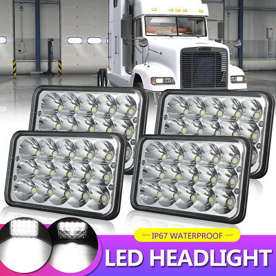"4X6"" 5X6"" 45W LED Headlights Hi/Lo Clear Sealed Beam For Chevy Camaro 1992"