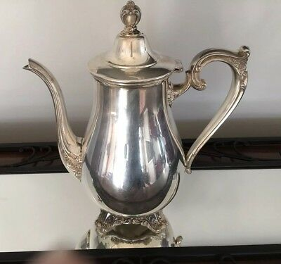 Wm Rogers & Son Silver Plated Water Pitcher Teapot Coffee # 1901 Victorian Rose