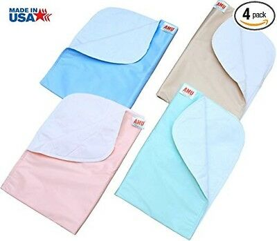 4 Pack 18 x 24 Washable Bed Pads/Reusable Incontinence Underpads