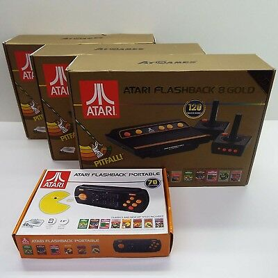 Lot Of 3 Atari Flashback 8 Gold (As-Is) Look Description (T108)