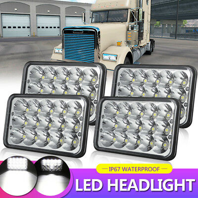 "4X6"" 5X6"" 45W CREE LED Headlights Hi/Lo Sealed Beam For Chevrolet Camaro"