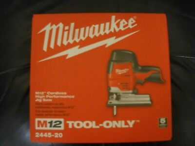 Milwaukee 2445-20 M12 12-Volt High Performance Jig Saw Bare Tool NEW