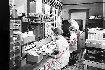 Vintage 1933 Occupational Photo Negative of Film Processing Sorting Printers