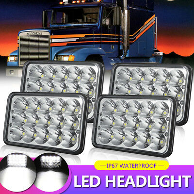 "4X6"" 5X6"" 45W CREE LED Headlights Hi/Lo Clear Sealed Beam For Chevrolet Camaro"