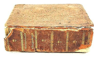 Collectable Vintage Geographical World Maps & Books In French Language