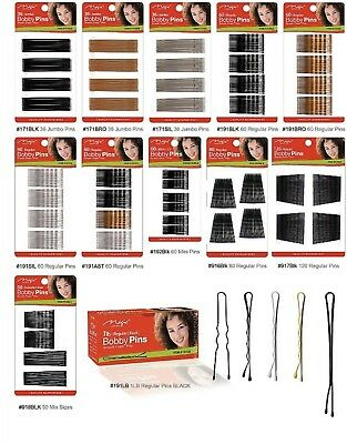 Bobby Pins Black Brown Hair Grips Clips Kirby Pins Salon Waved Slides