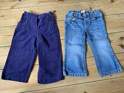 A pair of Girls Toddler Jeans and Cord Trousers - Age 12-18 months