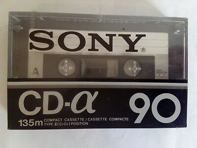 CASSETTE TAPE BLANK SEALED - 1x (one) SONY CD-α ALPHA [1979-81] made in France