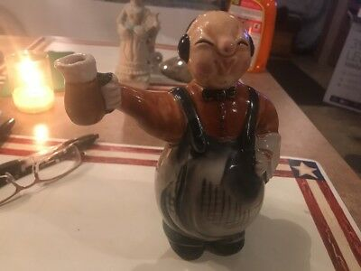 Authentic Vintage Chinese Man Figural Bottle, Cork Head Top,